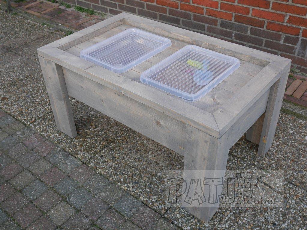 Zand Water Tafel : Zand en water tafel jip steigerhouten